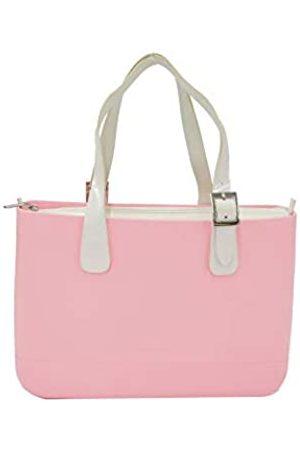 Doubleu Designer-Damen-Arbeitstasche, ideal für Laptop-Tragetasche und Schultertaschen., Pink (rose)