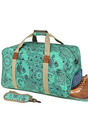 Kemy's Canvas Duffle Bag Damen Übernachtung Weekender Taschen Übergroß Damen Wochenende Carryon Duffel Large (Grün) - KM8020T-2