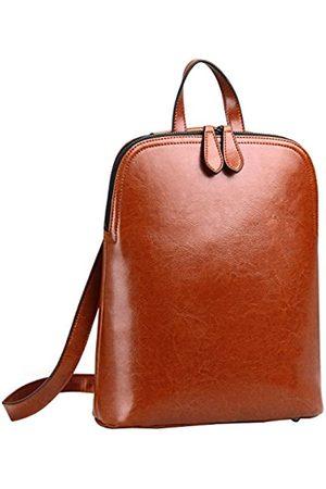 HESHE Damen Leder Rucksack Casual Daypack für Damen