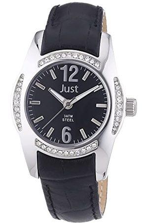 Just Watches Damen-Armbanduhr Analog Quarz Leder 48-S8368-BK
