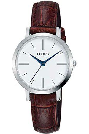 Lorus Klassik Damen-Uhr mit Palladiumauflage und Lederband RG289QX9