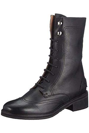 Shabbies Amsterdam Damen SHS0783 Ankle Boot LACE UP & Zipper, Black