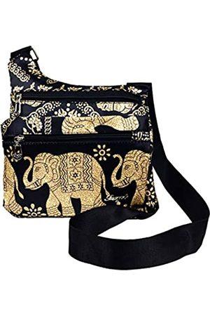 Wonshree Multi-Taschen, Boho-Elefant, für Damen und Herren, Unisex, Bohemian-Stil, Reisetasche, (Black Elephant a)