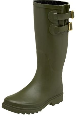 Chooka Damen Premium Solid Dual Buckle – Olive Rain Boot, Grn (olivgrün)