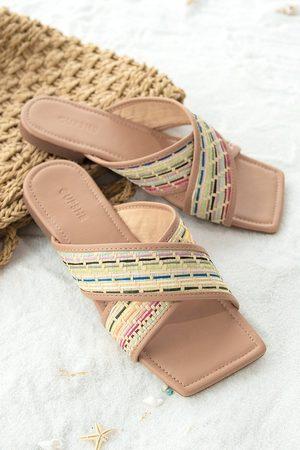 CUPSHE Damen Sandalen - Sandalen mit gewebten Riemen
