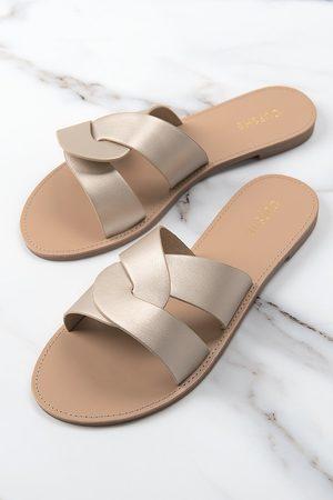 CUPSHE Damen Sandalen - Sandalen mit Kreuzriemen