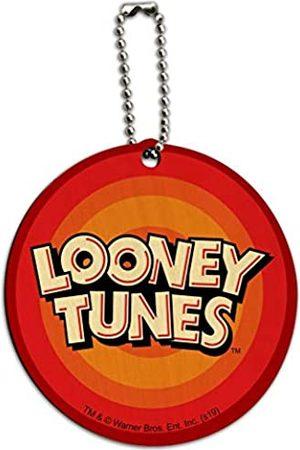 Graphics and More Looney Tunes Logo rund Holz Gepäckkarte Koffer Handgepäck ID Tag