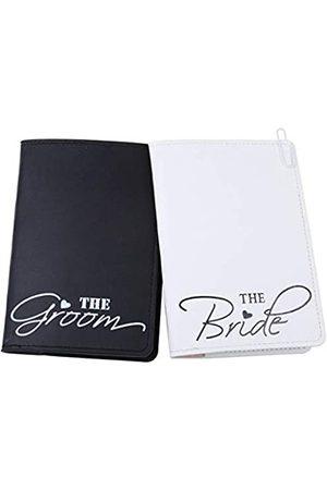 MLOLM Reisepasshülle für Brautpaar und Bräutigam, für Hochzeit, Hochzeits-Passhalter