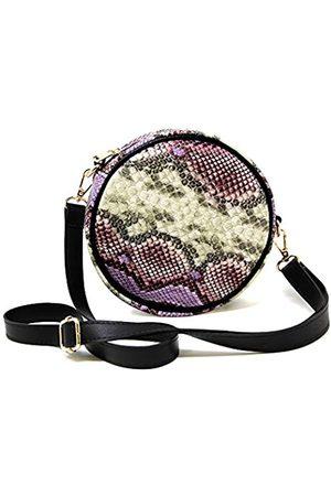 Me Plus Fashion Me Plus Damen Mädchen Teenager Fashion Solid Color Cord Crossbody Umhängetasche mit Taschen Verstellbarer Riemen, (Schlangenhaut Lavendel)
