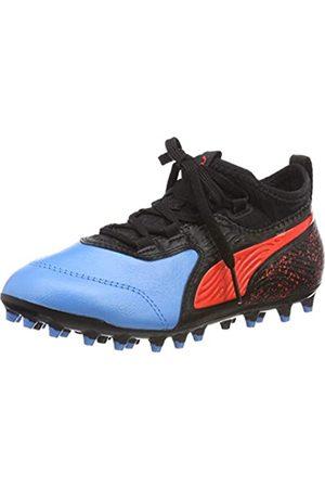 PUMA Unisex-Kinder ONE 19.3 MG Jr Fußballschuhe, (Bleu Azur-Red Blast Black)