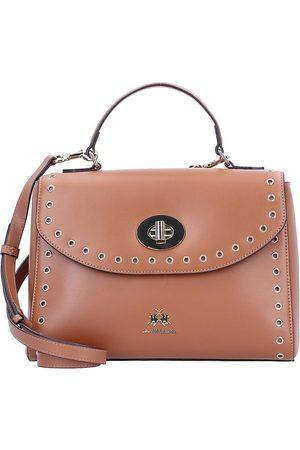 La Martina Bella Handtasche Leder 28 Cm in mittelbraun, Henkeltaschen für Damen