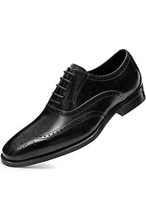 FRASOICUS Herrenschuhe mit Flügelspitze Oxford Echtes Leder Hochzeit Meeting formelle Schuhe
