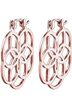 Elli Ohrringe Creolen Lebensblume 925 Silber rosé vergoldet