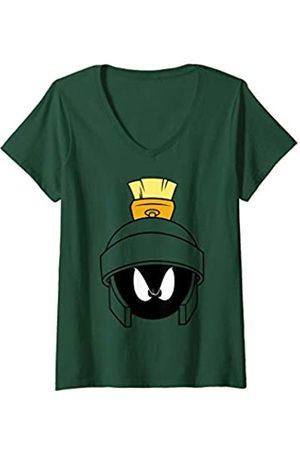 LOONEY TUNES Damen Marvin Face T-Shirt mit V-Ausschnitt