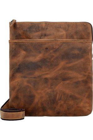 Greenburry Vintage Umhängetasche Leder 24 Cm Tabletfach in mittelbraun, Umhängetaschen für Herren