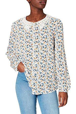 Springfield Damen Blusa Cuello Crochet Hemd