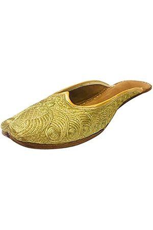 Step N Style Damen Schuhe, hinten offen, Phulkari Punjabi Jutti Khussa Mojari