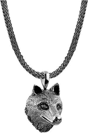 Kuzzoi Halskette Männerkette Wolfskopf Anhänger Massiv 925 in , für Herren