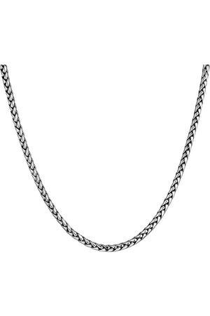 Kuzzoi Halskette Herren Zopfkette Oxidiert Massiv 925 in , für Herren