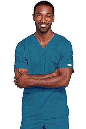 Cherokee Premium Core Stretch Unisex V-Ausschnitt Scrubs Shirt - Blau - Groß