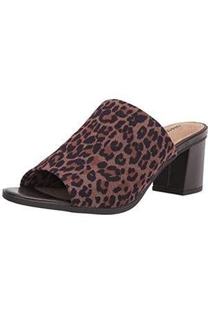 Easy Street Damen Carmella Hausschuh, Leoparden-Stretchstoff