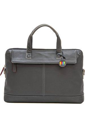 Mywalit Slim Office Aktentasche Leder 40 Cm Laptopfach in mittelgrau, Businesstaschen für Herren