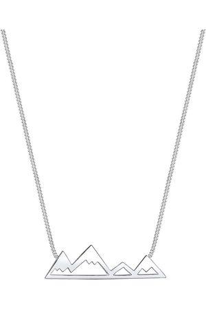 Elli Damen Halsketten - Halskette Berge Mountain Anhänger Reise Cut-Out 925 in , Schmuck für Damen