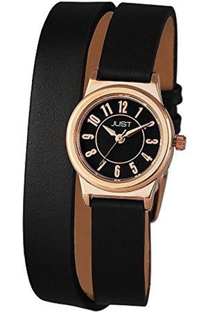 Just Watches Damen-Armbanduhr XS Analog Quarz Leder 48-S4062-RGD-BK