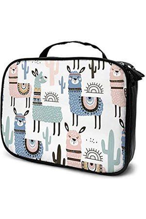 LOKIDVE Kosmetiktasche für Damen, niedliches Lama, Reise-Make-up-Tasche, tragbar