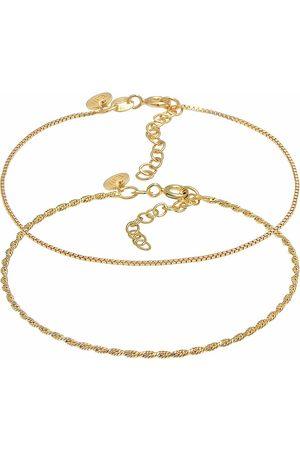 Elli Armband Kordelkette Gedreht Venezianer 2er Set 925 Silber in , Schmuck für Damen