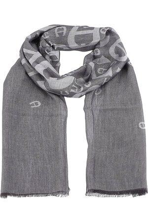 Aigner Damen Schals - Logo Schal 190 Cm in mittelgrau, Tücher & Schals für Damen