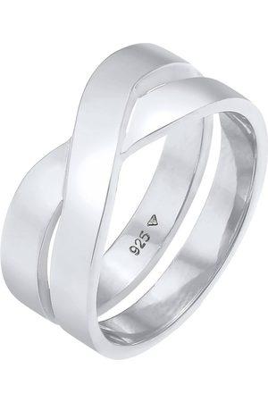 Kuzzoi Ring Herren Bandring Überkreuz Look 925 in , Kinderaccessoires für Mädchen
