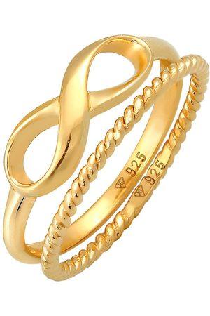 Elli Ring Infinity Stapelring Twisted 2er Set 925 Silber in , Schmuck für Damen