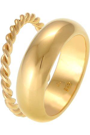 Elli Ring Bandring 2er Set Basic Twisted Gedreht 925 Silber in , Schmuck für Damen