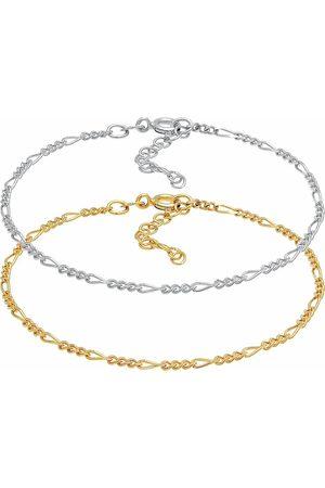 Elli Armband Figaro Basic Bicolor 2er Set 925 Sterling in , Schmuck für Damen
