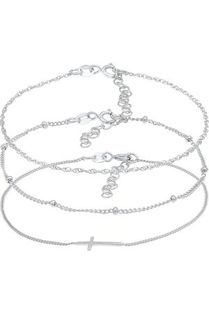 Elli Armband Gedreht Kugel Kreuz Design 3er Set 925 in , Schmuck für Damen