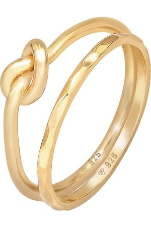 Elli Damen Ringe - Ring Knoten Verknotet Trend Basic 2er Set 925 Silber in , Schmuck für Damen