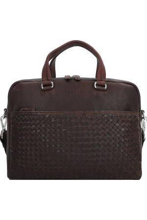 Bugatti Woven Aktentasche Leder 37 Cm Laptopfach in dunkelbraun, Businesstaschen für Herren