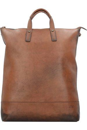 Jost Randers X-Change 3in1 Bag L Rucksack Leder 47 Cm Laptopfach in mittelbraun, Rucksäcke für Damen