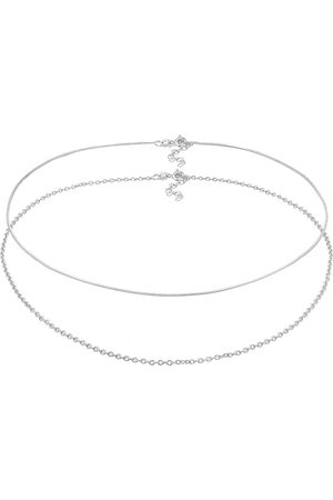 Elli Halskette Choker Set Basic Schlangen Ankerkette 925 in , Schmuck für Damen