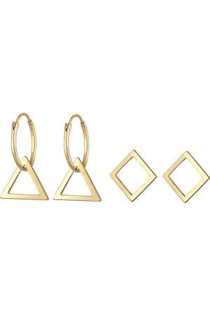 Elli Ohrringe Creolen Set Hänger Geo Dreieck Trend 925 Silber in , Schmuck für Damen