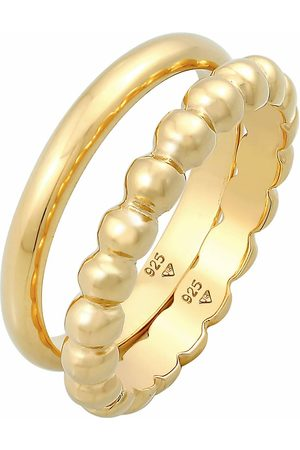Elli Ring Bandring 2er Set Basic Kugel Design 925 Silber in , Schmuck für Damen
