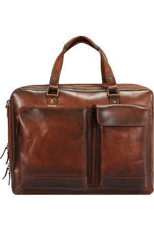 Jost Ranger Aktentasche Leder 45 Cm Laptopfach in mittelbraun, Businesstaschen für Herren