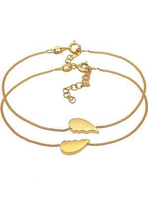 Elli Armband Herz Gebrochen Friends Love 2er Set 925 Silber in , Schmuck für Damen