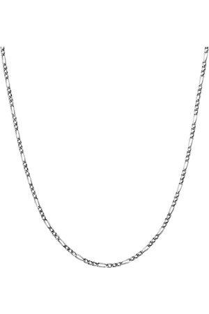 Kuzzoi Halskette Herren Figarokette Massiv Basic Trend 925 Silber in , Schmuck für Herren