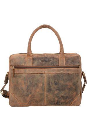 Greenburry Vintage Aktentasche Leder 41 Cm Laptopfach in mittelbraun, Businesstaschen für Herren