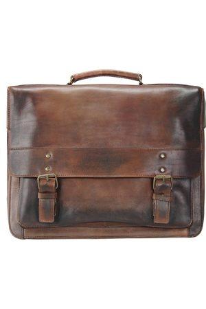 Jost Ranger Aktentasche Leder 40 Cm Laptopfach in mittelbraun, Businesstaschen für Herren