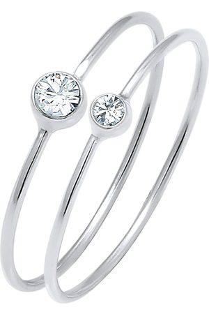 Elli Ring Set Basic Trend Kristalle 925 in , Schmuck für Damen