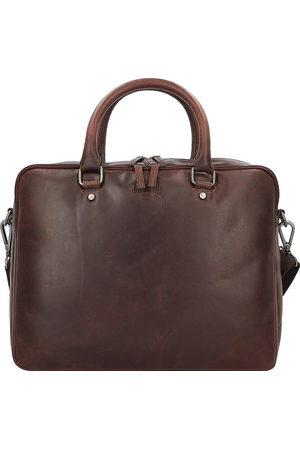 Klondike Herren Laptop- & Aktentaschen - Earl Aktentasche Leder 37 Cm Laptopfach in mittelbraun, Businesstaschen für Herren