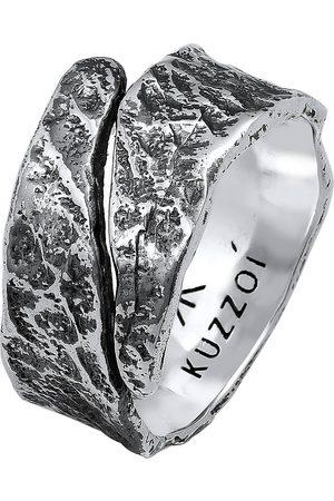 Kuzzoi Ring Bandring Struktur Used Look 925 Silber in , für Herren